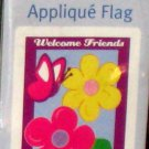 Welcome Daisies Applique Decorative Garden Flag 28 x 40 Spring Summer New NIP