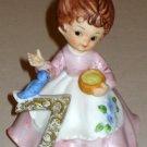 Kelvin 7th Birthday Ceramic Figurine 7 Seven B-916 Girl Blue Bird