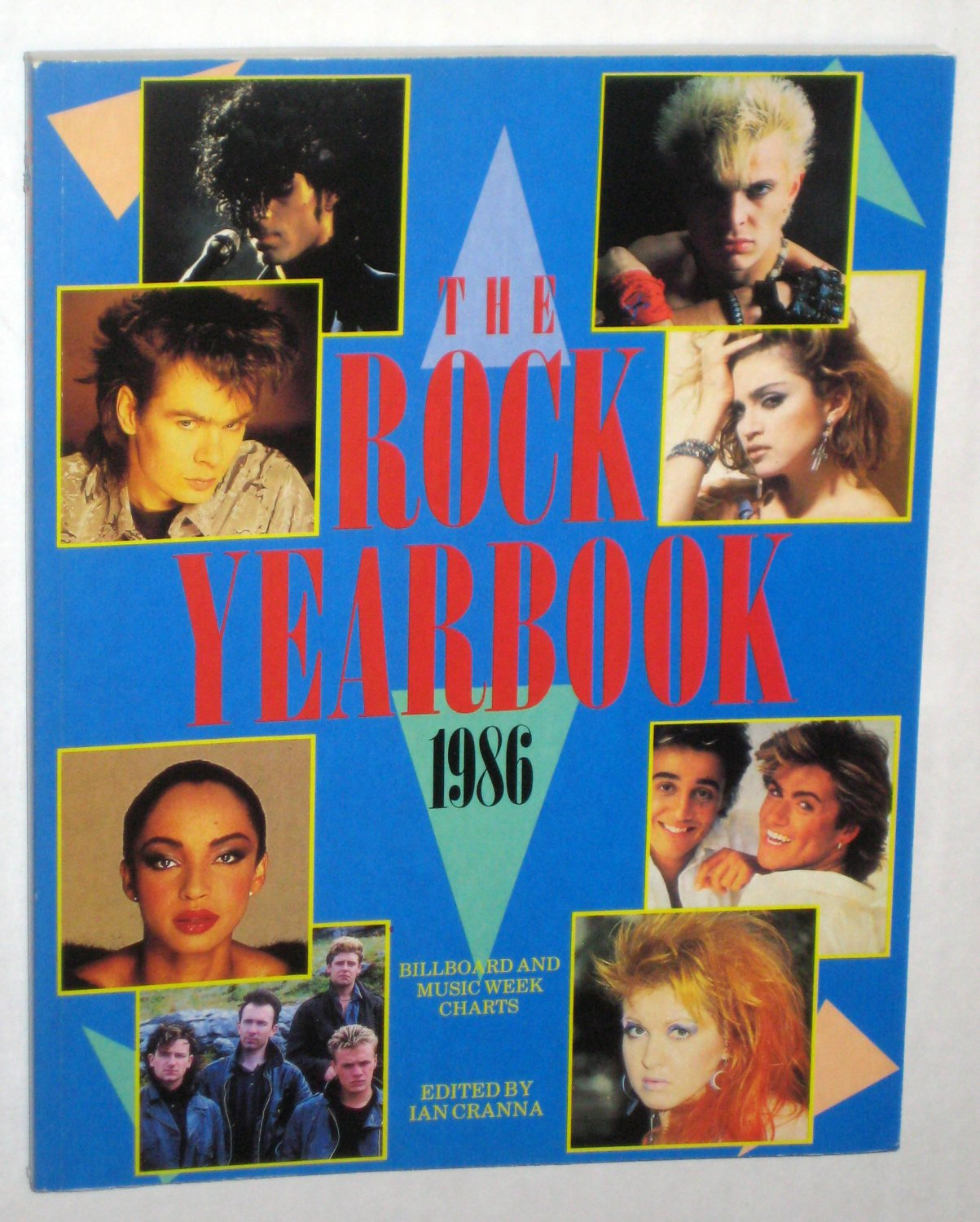 The Rock Yearbook 1986 Softcover Paperback Prince Madonna Sade Year Book Rock and Roll