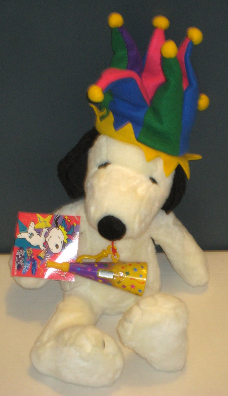 Snoopy Jester Party Hat 24 Inch Plush Doll Macy S 2000 Millenium New