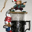 Coca-Cola Bottling Works Collection Ornament Fountain Glass Follies Elves Christmas Coke 1995