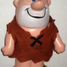 Flintstones Lot Barney Rubble 8½ Inch Plastic Coin Bank 1975 Fred Walking Wind Up Beach Figures
