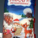 Rudolph the Red Nosed Reindeer Storybook Pillow Story Book Island of Misfit Toys Santa Claus