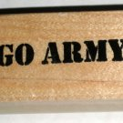 Military Go Army Rubber Stamp Stamper Wood Mounted USA United States Excellent Condition Patriotic
