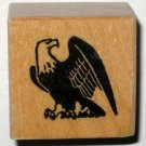 American Bald Eagle Rubber Stamp Stamper Wood Mounted Excellent Condition Patriotic