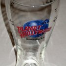Planet Hollywood Tall Beer Drinking Glass Washington DC Clear
