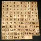Mathable Board Game Replacement Number Tiles Set of 108 Natural Wood Wooden Crafts Scrapbooking