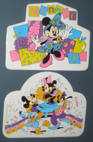 Walt Disney Vinyl Placemat Lot Place Mat Mickey Mouse