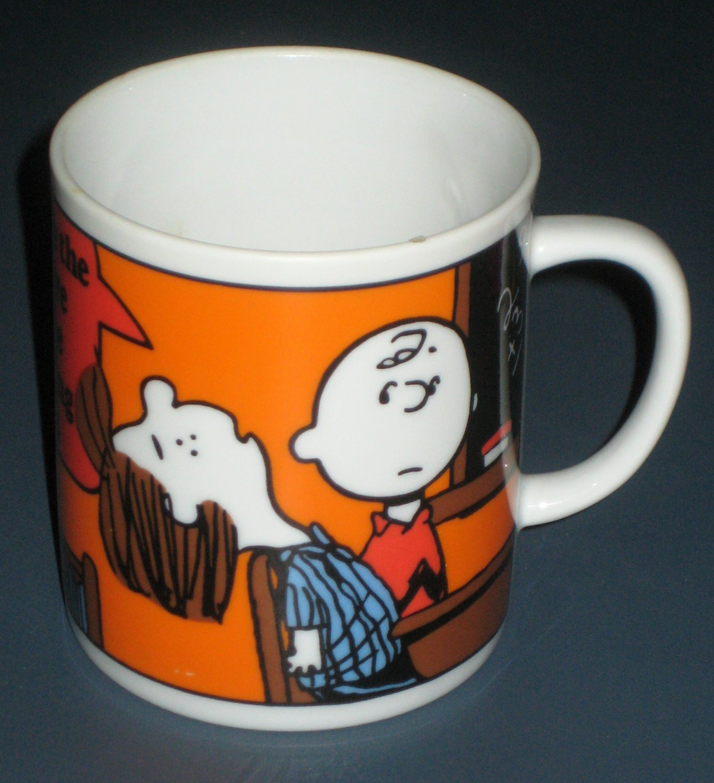 Charlie Brown Ceramic Coffee Mug Cup Peanuts Gang Peppermint Patty Marcie Drinking