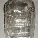 Thompson's Dairy Clear Glass Milk Bottle One Quart Square