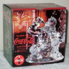Coca-Cola Santa Claus 24% Lead Crystal Figurine Coke with Box 1999
