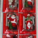 Coca-Cola Illuminated Ornaments Coke Polar Bear Snowman Santa Claus Elf Trim-a-Tree Collection NIP