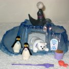 Littlest Pet Shop Zoo Polar Pets Complete1993 Bear Penguins Seal + Extras Keep Me Safe Series