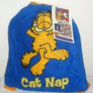 Garfield the Cat Odie Dog Pull String Backpack Sack 50 x 60 Fleece Blanket Nap Paws Jim Davis NWT