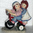 Raggedy Ann & Andy Enesco Figurine Tricycle 677752 Happiness is Sharing a Cheery Smile NIB