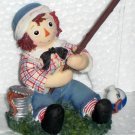 677701 Cast a Smile Catch Some Joy Raggedy Ann & Andy Enesco Figurine Fishing NIB