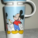 Mickey Mouse 6½ Inch Ceramic Coffee Mug Cup 1928 1935 Today Walt Disney Handled