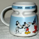 Mickey Mouse 4½ Inch Ceramic Coffee Mug Cup 1928 1935 1940 1941 1947 Today Walt Disney Handled