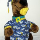 Bedtime Scooby Doo Plush Stuffed Animal 20 Inch Toy Dog Pajamas Slipper Hanna Barbara