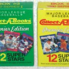 Collect-A-Books Premier Edition 1990 Major League Baseball Series I Box #2 #3 New Sealed Ryan Aaron