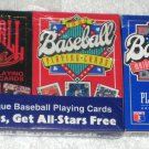 Major League Baseball US Playing Cards 3 Decks 1990 1991 1992 Aces All Stars
