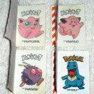 Pokemon Cracker Jack Prize Sticker Tattoos Jigglypuff Clefairy Totodile Venonat 2000