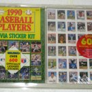 1990 Baseball Players Trivia Sticker Kit Over 600 Licensed Stickers Book New