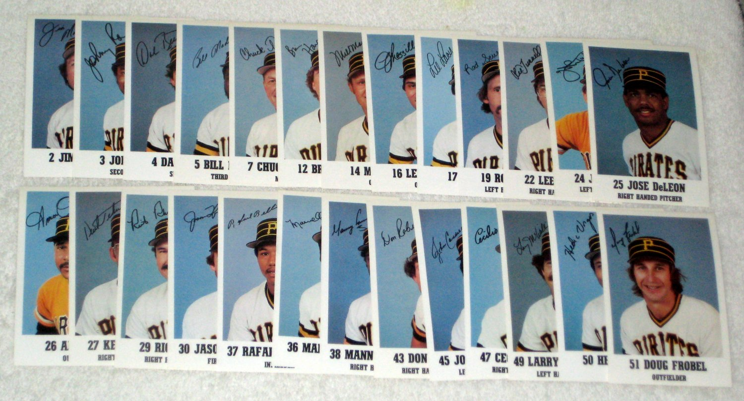 Pittsburgh Pirates 1984 Team Issue Baseball Photo Cards Stadium Giveaways