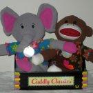 Cuddly Classics Greenimals Sock Monkey Elephant Plush Toy Dolls DanDee NIP