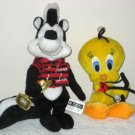 Pepe Le Pew & Tweety Valentine's Plush Beanbag Dolls Looney Tunes Warner Bros 1998