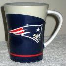 New England Patriots Ceramic Coffee Mug Embossed Handled Drink Cup NFL Russ Berrie
