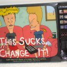 Beavis & Butthead Lot 3 Inch Pin Button + This Sucks Change It Inactivity Book Remote Control NIP