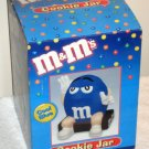 M&M's Candies Cool Blue Peanut Ceramic Cookie Treat Jar Benjamin & Medwin 2000 with Box