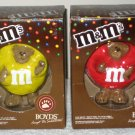 M&M's Candy Boyds Bears Figurines Plain Red Peanut Yellow Characters Peeker 2005 NIB New
