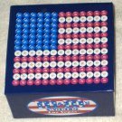 M&M's M&M World Las Vegas Candies Box Red White & Blue United States of America USA