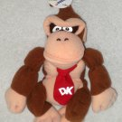 Donkey Kong 7 Inch Plush Bean Bag x2 Nintendo 64 Bros 1997 NWT Stuffed Toy