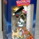 Rudolph & the Island of Misfit Toys Mini Hanging Ornaments Enesco Santa Sam Hermey Clarice NIP