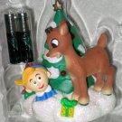 Rudolph's Brightest Christmas Ornament Carlton Cards 103 Lights Hermey NIP 2002 Red Nosed Reindeer