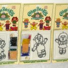 Cabbage Patch Kids Stained Glass Suncatchers Kits Blonde Red Haired Girl Boy Makit & Bakit 1984 OAA