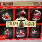 Coca-Cola Trim-A-Tree Collention Santa Claus Ornaments Coke Haddon Sundblom 1st Edition 1991