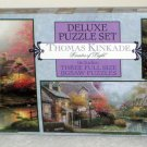 Thomas Kinkade 3602-1 Deluxe Jigsaw Puzzles 3 in 1 Set Three Pack 700 550 100 Piece Ceaco SEALED