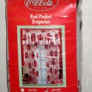Coca-Cola Rod Pocket Draperies Curtains Drapes Coke One Pair 82 x 84 NIP Red Disc Icon 2000