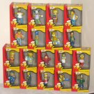 Simpsons Christmas Ornaments with Store Display Homer Nelson Burns Ralph Moe Milhouse Barney Krusty