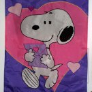 Snoopy 28 x 40 Be Mine Decorative Garden Flag Letter Nylon Valentine's Day Peanuts Gang NCE