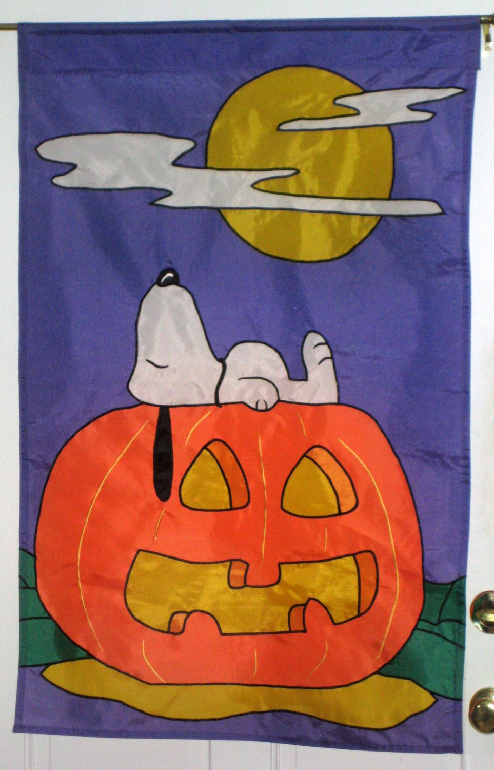 sold snoopy 28 x 40 halloween decorative garden flag polyester jack