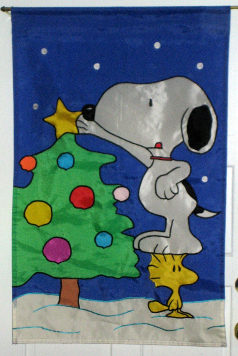 Snoopy Woodstock 28 x 40 Flag Lot Christmas Valentine's Welcome 4th of July Garden Peanuts Gang