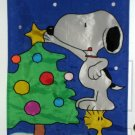Snoopy Woodstock 28 x 40 Christmas Tree Decorative Garden Flag Polyester Peanuts Gang
