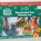 Winnie the Pooh Illuminated Light Ornaments & Tree Trimmer String Sets Tigger Piglet Santa's Best