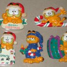 Garfield the Cat Christmas Holiday Lot Resin Magnets Ornaments Coin Bank Enesco PAWS Jim Davis