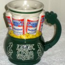 Budweiser Beer Ceramic St Patrick's Day Mug Stein Luck O' the Irish  Bud Anheuser Busch Handled 1993